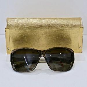 TORY BURCH~polarized sunglasses~Black/Silver~7013